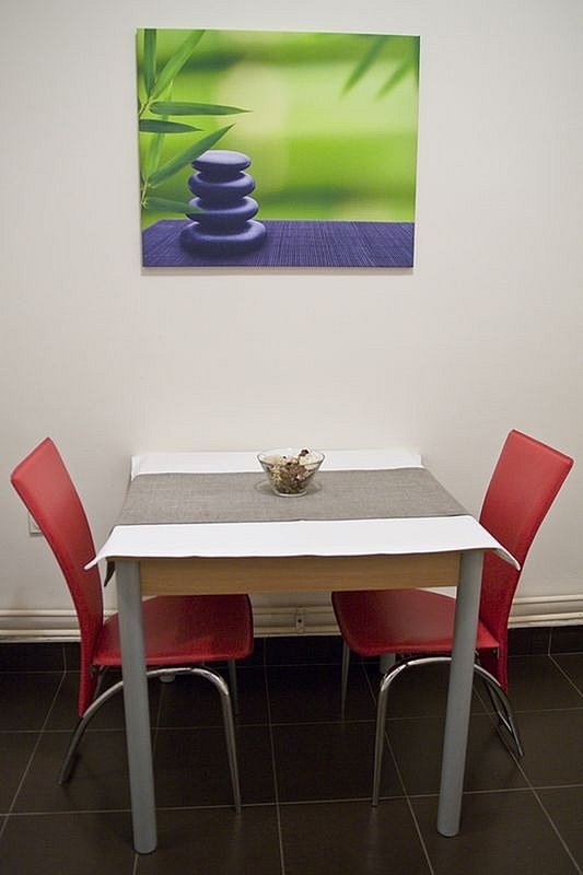 Table in kitchen
